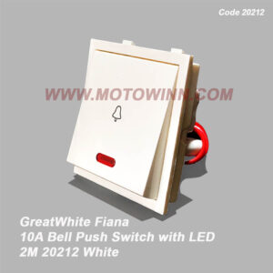 GreatWhite Fiana 10A Bell Push with LEd 2M With Indicator (Ref No. : 20212)