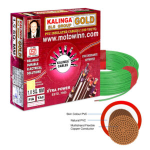 Kalinga Gold 0.75 Sq mm Green FR PVC Housing Wire, Length: 90 m