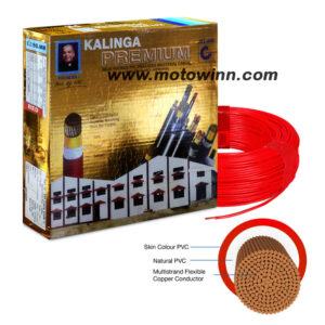 Kalinga Premium 6.0 Sqmm Red FR PVC Housing Wire, Length: 90 M