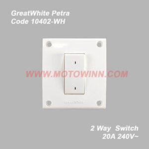 GreatWhite Petra, 2Way Switch 20A 240V ~ (Ref No. 10402WH)