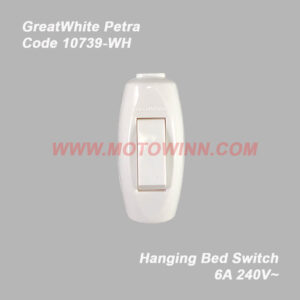 GreatWhite Petra, Hanging Bed Switch 6A 240V ~ (Ref No. 10739-WH)