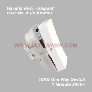Havells Reo-Elegant One Way Switch16A 240V~(Ref. No. AHRSXXW161)