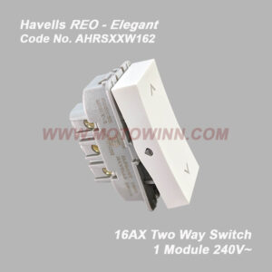 Havells Reo-Elegant Two Way Switch 16AX 240V~ (Ref. No. AHRSXXW162)