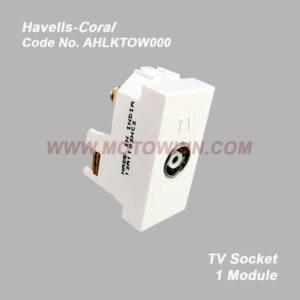 Havells-Coral TV Socket 1 Module (Ref No. AHLKTOW000)