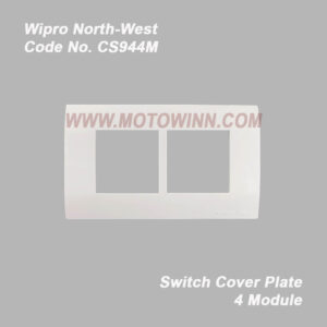 Wipro, North-West Cover Plate 4 Module Natural White (Ref. No. CS944M)