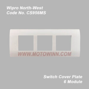 Wipro, North-West Cover Plate 6 Module Natural White (Ref. No. CS956MS)
