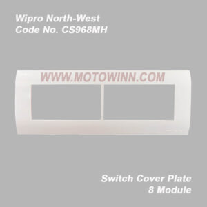 Wipro, North-West Cover Plate 8 Module (Horizontal) Natural White (Ref. No. CS968MH)