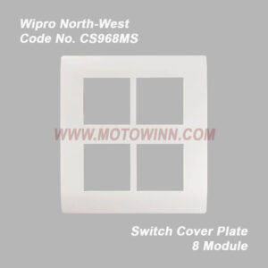 Wipro, North-West Cover Plate 8 Module (Vertical) Natural White (Ref. No. CS968MS)