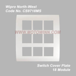 Wipro, North-West Cover Plate 18 Module Natural White (Ref. No. CS9718MS)