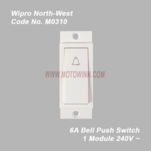 Wipro, North-West Bell Push 6A 1Module 240V~ (Ref No. M0310)