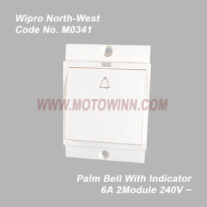 Wipro, North-West Palm Bell 6A With Indicator 2Module 230V (Ref No. M0341)