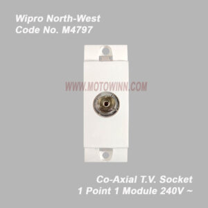 Wipro, North-West Co-Axial T.V. Socket 1Module (Ref No. M4797)